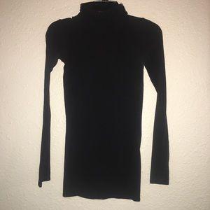 💎 Forever 21 black turtle neck tunic mini dress